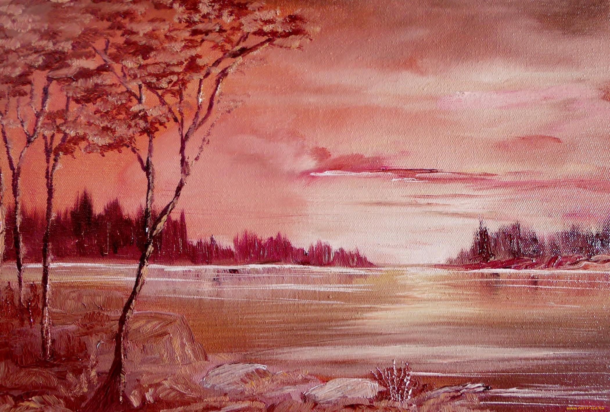 Днем, картинки нарисованные красками природа