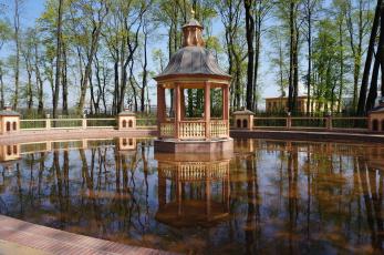 обоя летний сад, города, санкт-петербург,  петергоф , россия, беседка, санкт-, петербург, летний, сад
