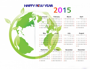 обоя календари, рисованные,  векторная графика, ветка, листья, материки