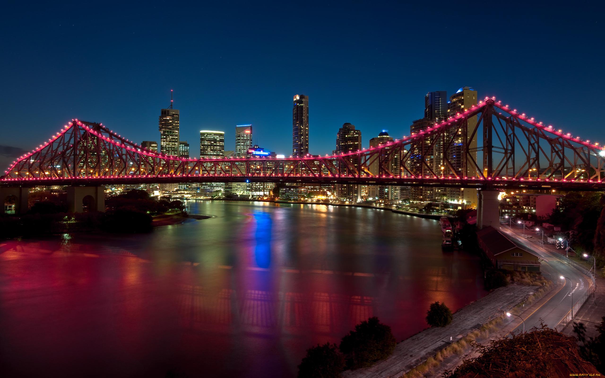 мост вечер мегаполис  № 3360571 бесплатно