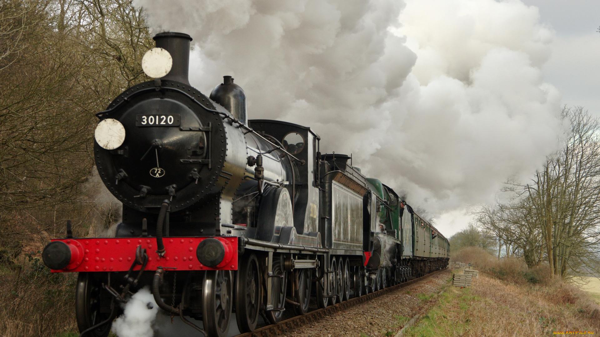 уже октябре фото паровозов с вагонами на станции мрачноватый стиль тематику