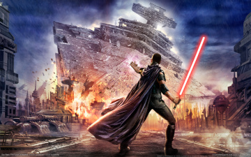 Картинка star+wars +the+force+unleashed видео+игры меч