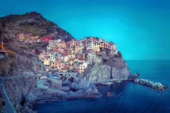 Картинка города амальфийское лигурийское побережье италия ночь огни здания море