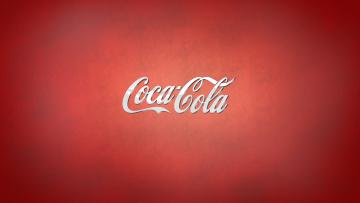 Картинка бренды coca cola надпись кока-кола красный фон