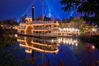 Картинка корабли пароходы парк река колесный паароход