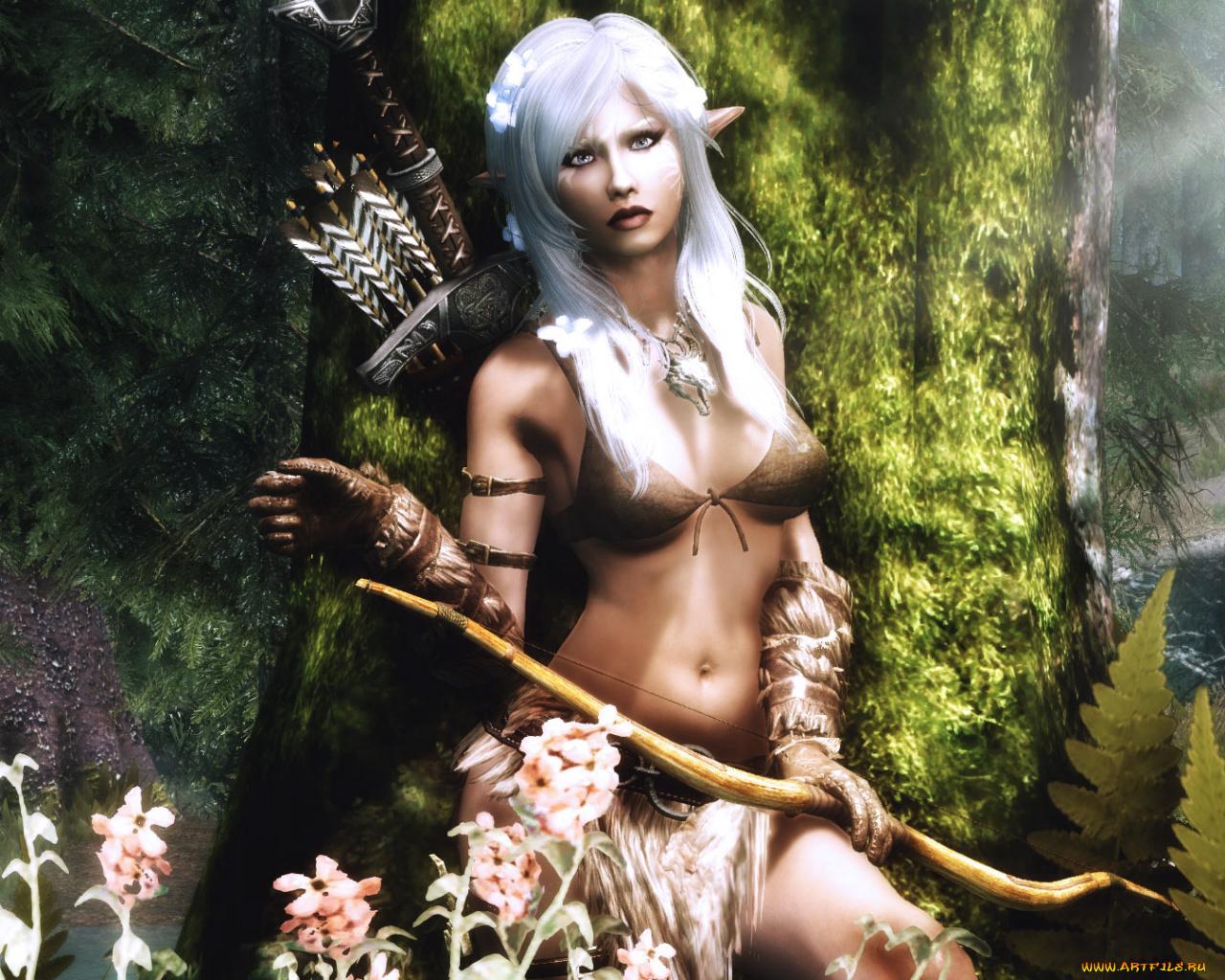 Sexy elf elf kisses adult picture
