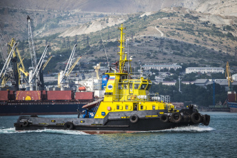 обоя корабли, баркасы ,  буксиры, судно