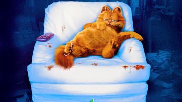обоя мультфильмы, garfield, кот