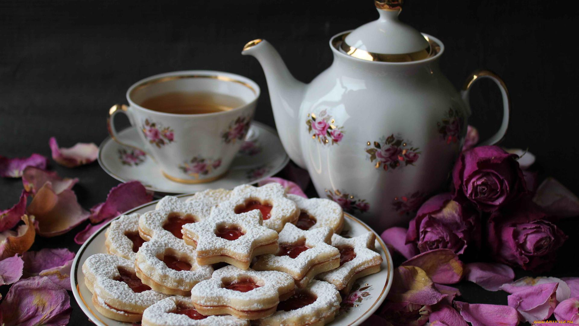 Картинки новости, открытка с добрым утром чай с печеньем