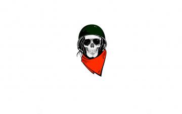 Картинка рисованное минимализм каска шлем платок очки череп