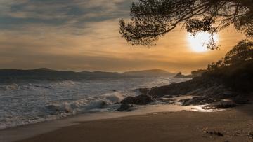 обоя природа, побережье, море, берег