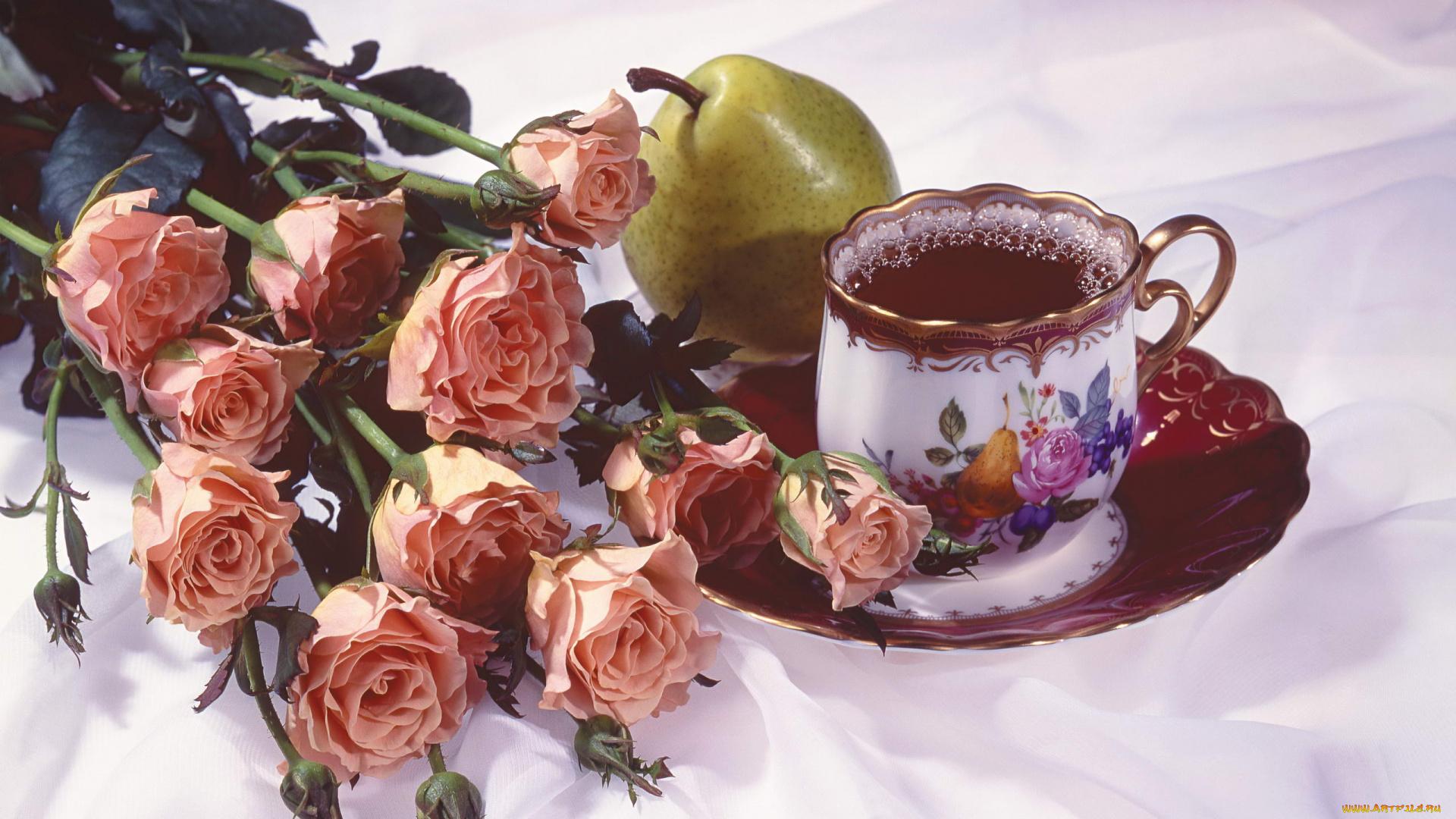 Доброе утро букет роз открытка, картинки гирь доброе