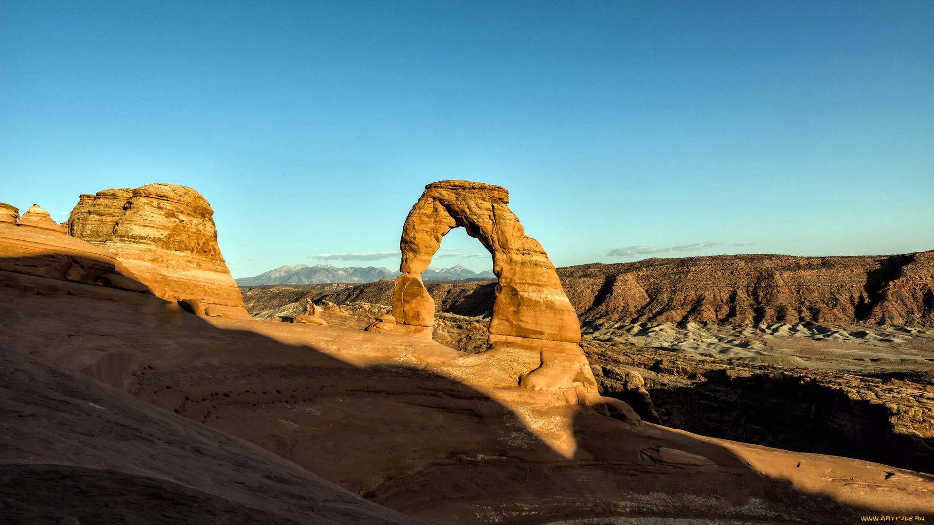 Double-O-Arch, арки, национальный, парк, США, штат, Юта  № 620116  скачать