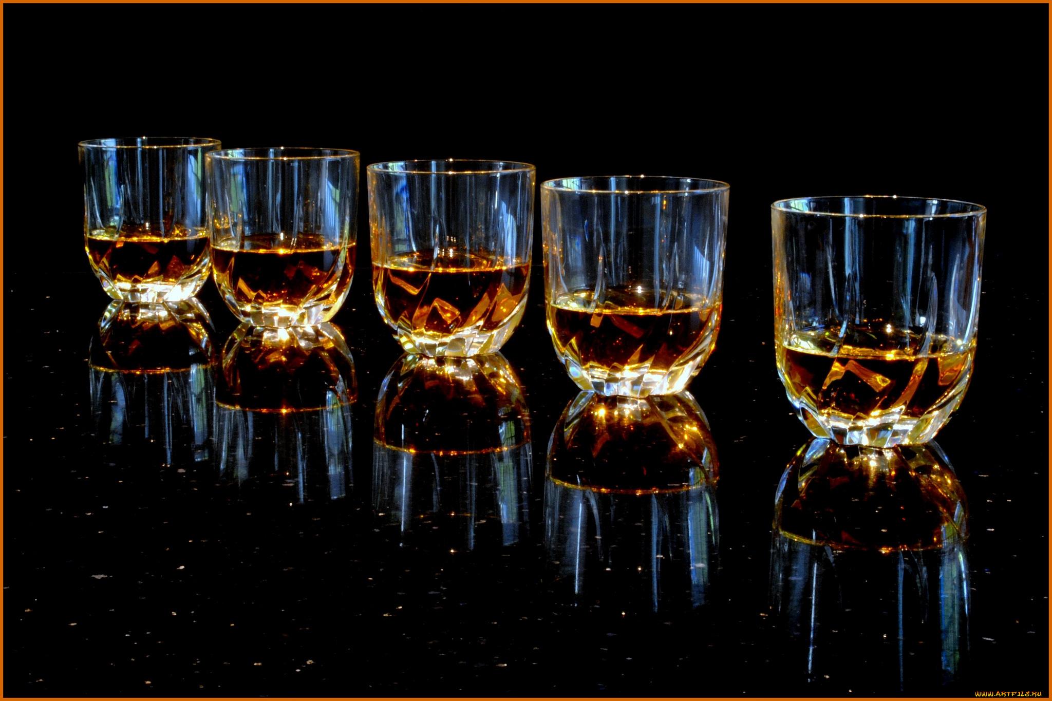 Алкоголь в конусообразном бокале