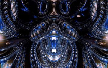 Картинка 3д графика fractal фракталы фон цвет узор