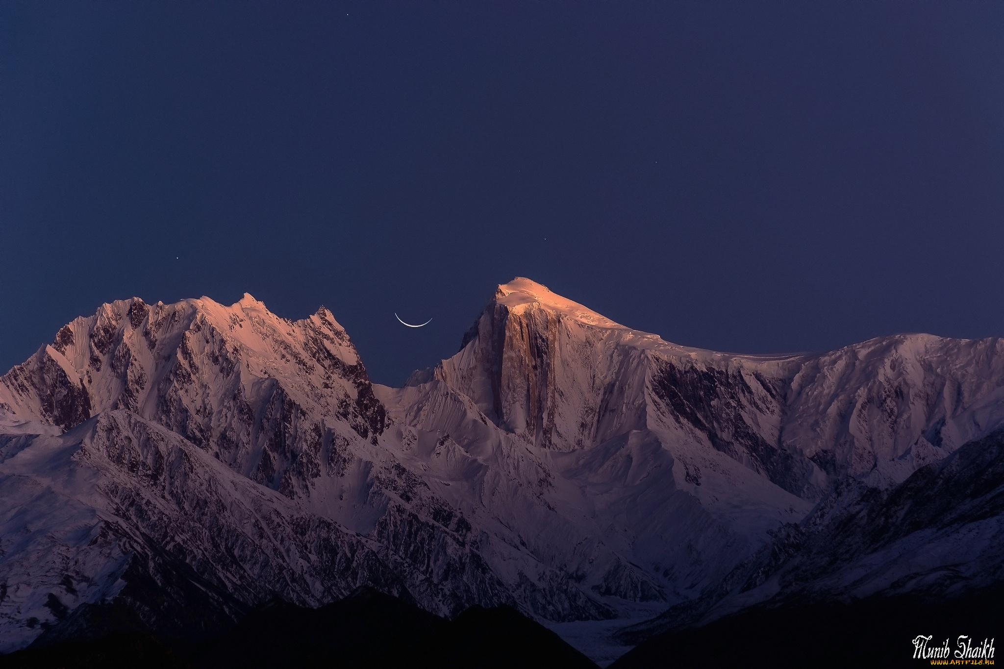горы небо месяц без смс