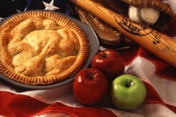 обоя еда, пироги, пай, яблочный, пирог, яблоки