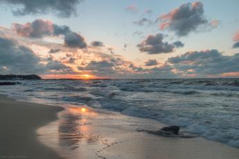 обоя природа, побережье, берег, сипаева, катерина, волны, мокрый, песок, закат, балтийское, море