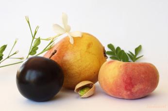 обоя еда, персики,  сливы,  абрикосы, плоды