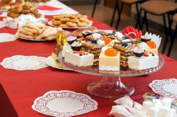обоя еда, пирожные,  кексы,  печенье, сервировка, лакомство, салфетки