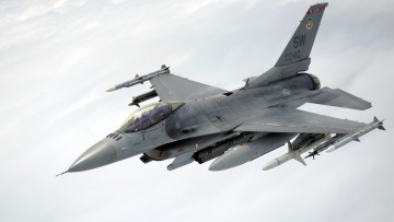 обоя авиация, боевые самолёты, самолёт, оружие, f-16