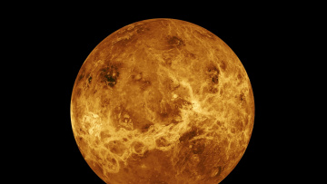 обоя космос, венера, планета, на, черном, фоне