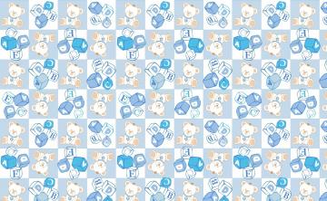 Картинка векторная+графика животные+ animals мишка кубики