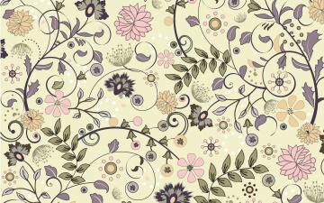 обоя векторная графика, цветы , flowers, цветы, фон