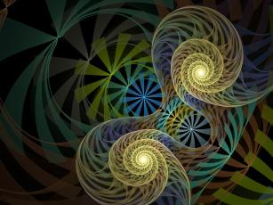 Картинка 3д графика fractal фракталы узор цвета фон