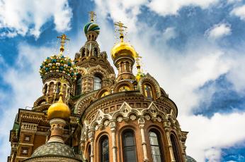обоя savior on the spilled blood church st,  petersburg, города, санкт-петербург,  петергоф , россия, храм
