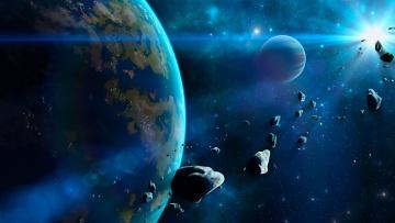 обоя космос, арт, вселенная, звезды, галактика, планеты