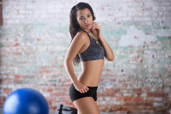 Обои картинки фото спорт, фитнес, девушка