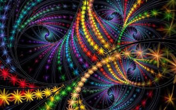 Картинка 3д графика fractal фракталы цвета узор