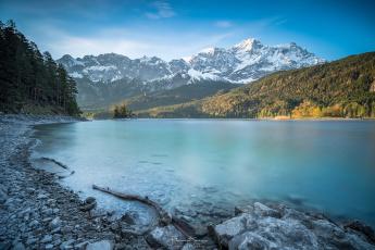 обоя природа, реки, озера, снег, деревья, горы, река