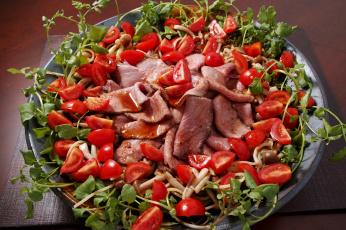 обоя еда, салаты,  закуски, томаты