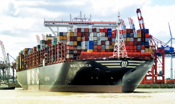 обоя корабли, грузовые суда, контейнеровоз