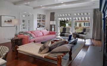 обоя интерьер, гостиная, комната, дизайн, подушки, диван