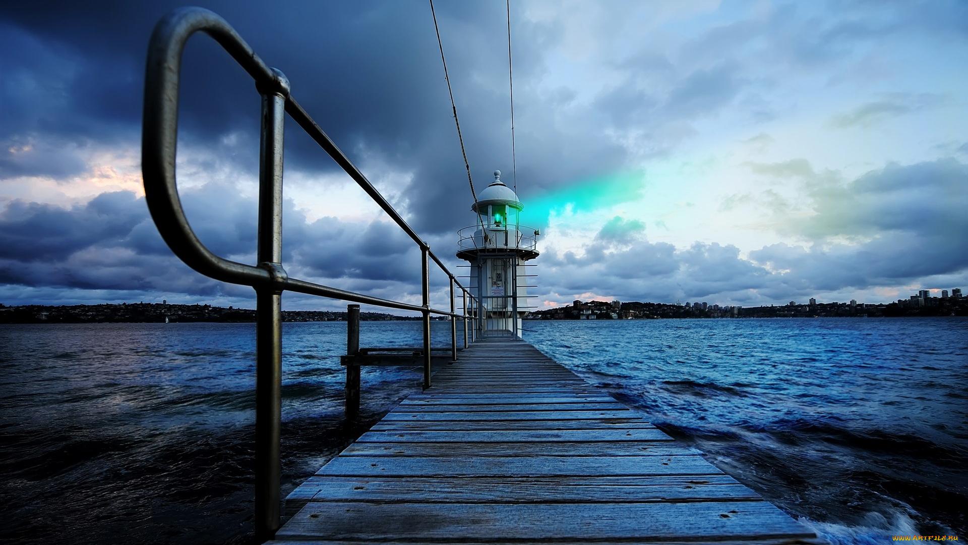 Природа вода отражение маяк бесплатно