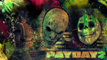 обоя payday 2, видео игры, - payday 2, грабители, бандиты, симулятор, 2, ограбление, payday