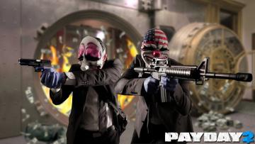 обоя payday 2, видео игры, - payday 2, грабители, ограбление, симулятор, 2, бандиты, payday