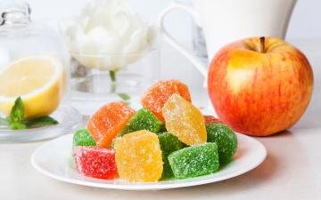Картинка еда конфеты +шоколад +сладости сладкое яблоко мармелад sweet apple jelly