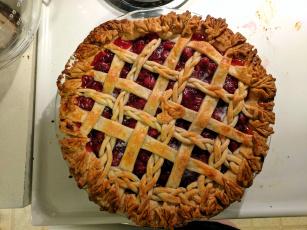 обоя еда, пироги, пай, вишневый