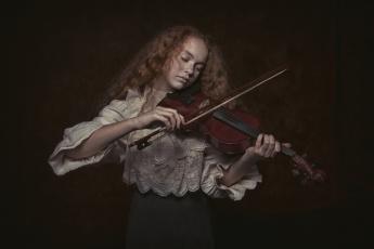 обоя музыка, - другое, скрипка, девушка