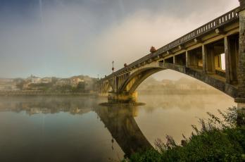 обоя города, - мосты, мост, река