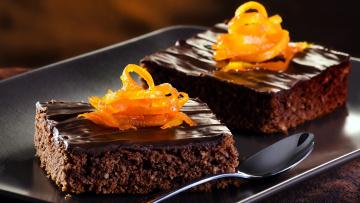 обоя еда, пирожные,  кексы,  печенье, пирожное, шоколадное, цедра, апельсиновая