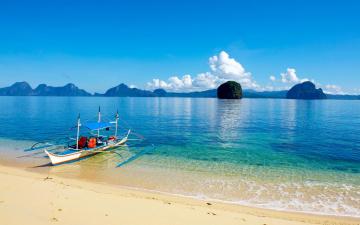 обоя корабли, лодки,  шлюпки, море, острова, пляж, лодка, отдых