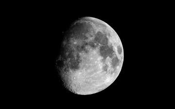 обоя waxing, gibbous, moon, космос, луна