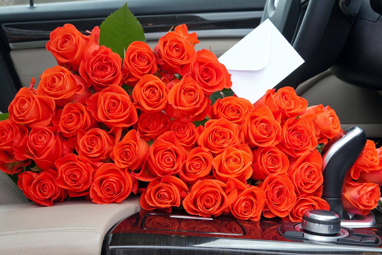 Открытки цветов в машине, днем рождения парни
