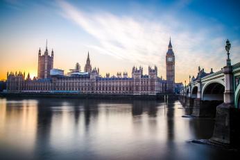 обоя houses of parliament, города, лондон , великобритания, простор