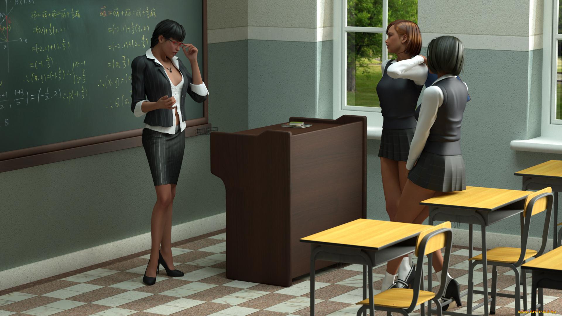 Сексуальная учительница в платье, Развратная училка опять пришла на занятия в супер 7 фотография